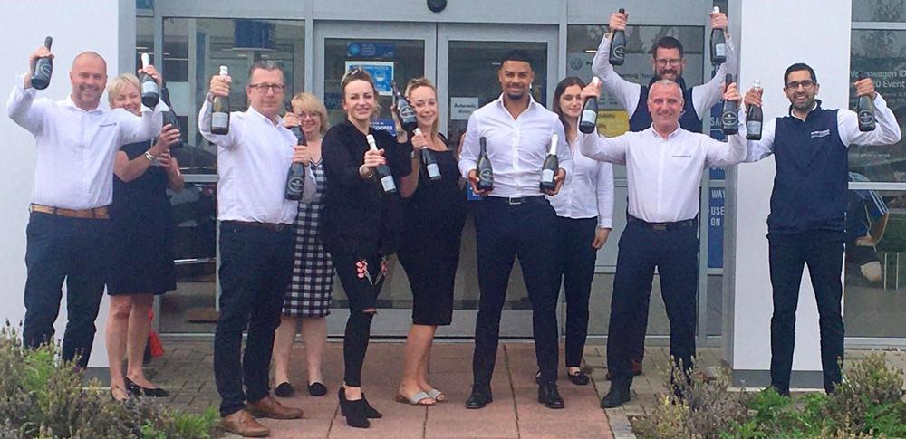 Staff celebrate national awards at Peter Cooper Motor Group